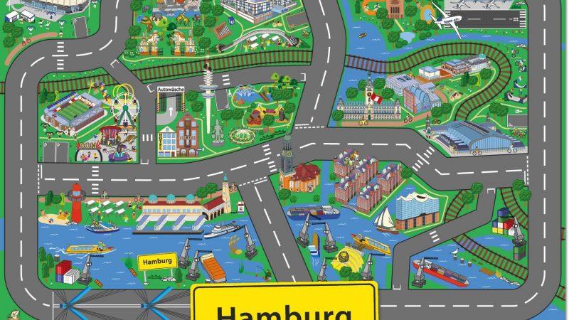 Hamburgs Straßen zu Hause