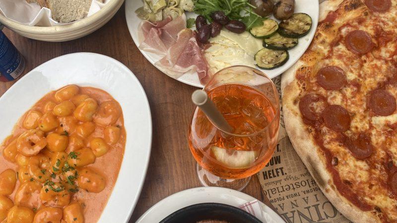Italienisches Essen in der Osteria