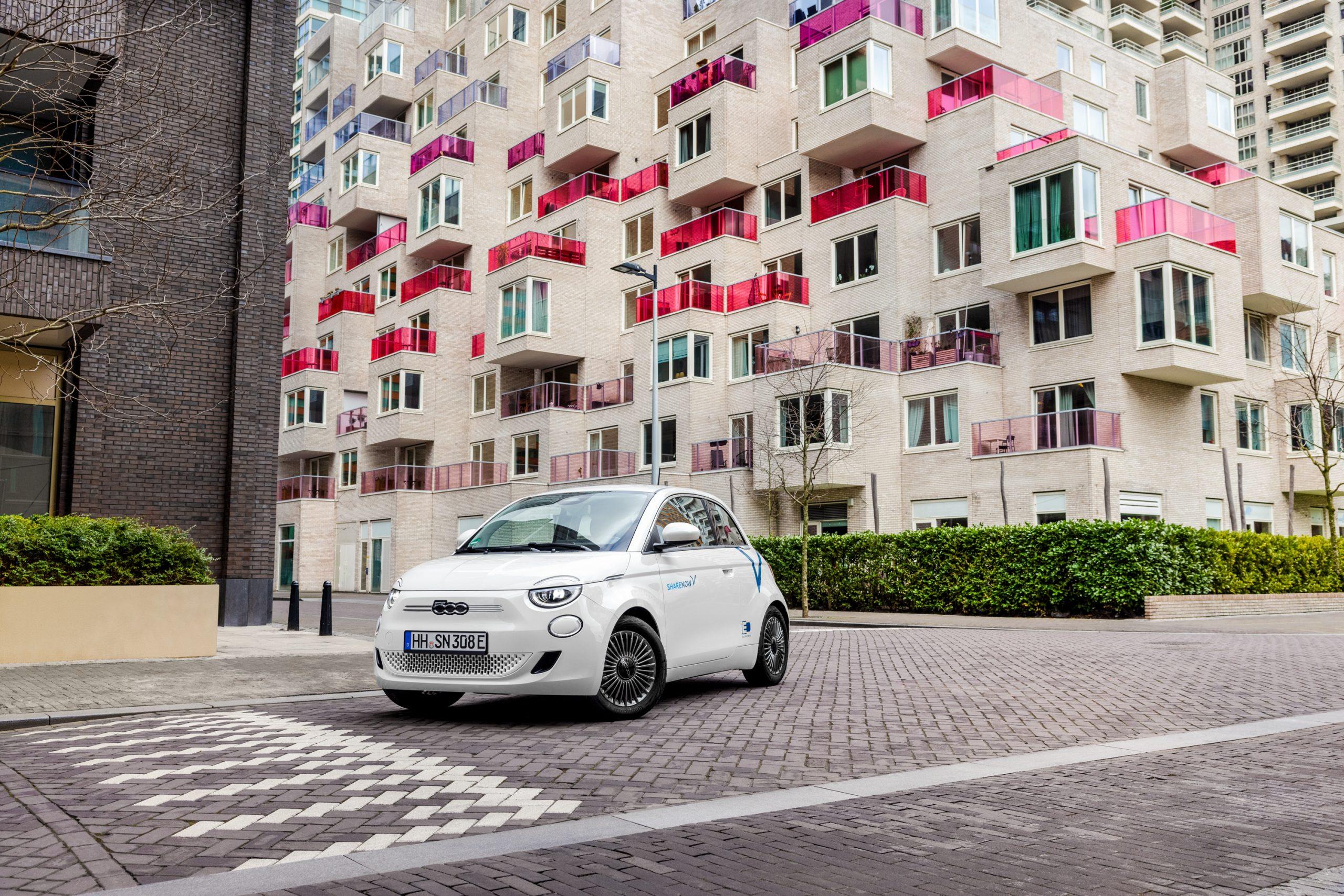 SHARE NOW mit dem Fiat500e